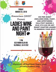 Scouts Wine & Paint Night